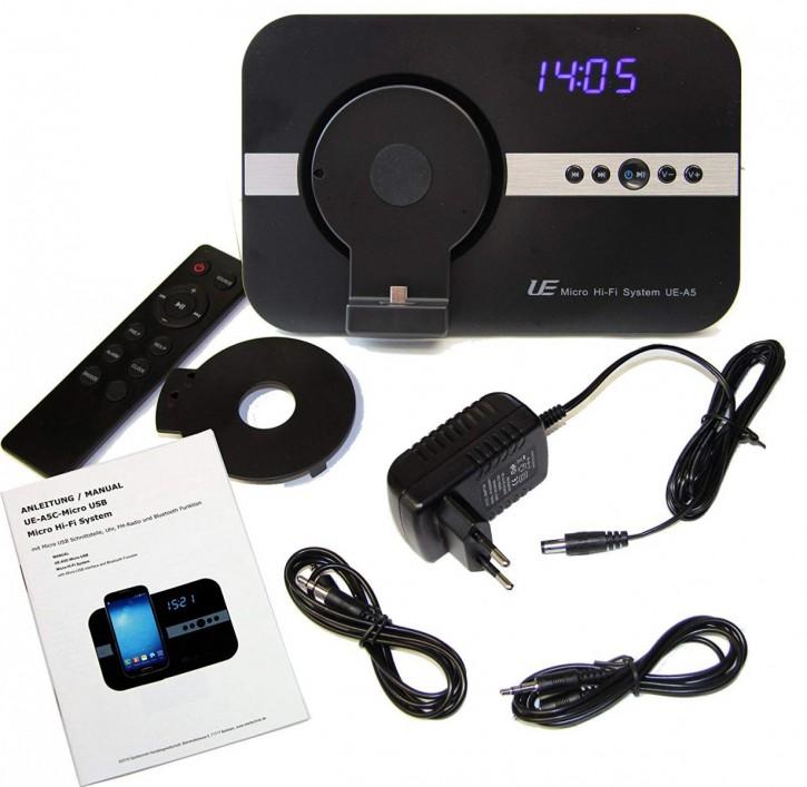 10 Watt Sound System mit Wecker Uhr Radio micro USB