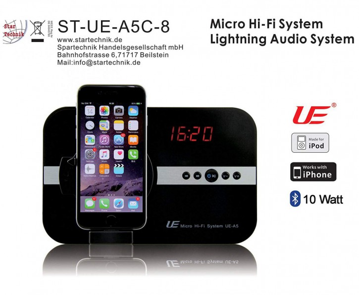 Soundsystem für Apple iPhone ipod Touch Ipot Lightning Schnittstelle