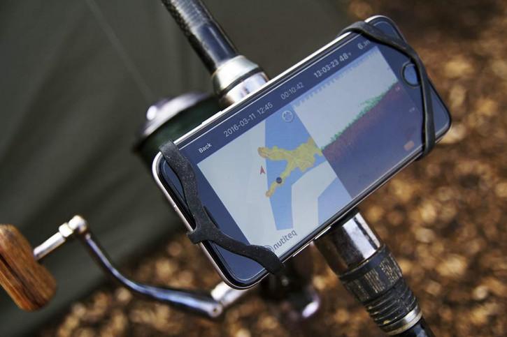 Deeper Smartphone Halterung für die Ihrer Angelrutte. Smartphone Mount