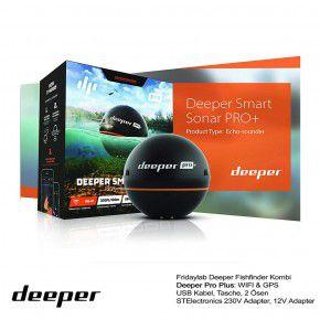 Deeper Fishfinder Pro Plus WiFi GPS inklusive 230 Volt Ladegerät 12V Autolader von Fridaylab.